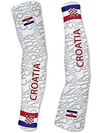 クロアチアScudoPro Compression Arm Sleeves UV保護ユニセックス – Walking – サイクリング – Running – ゴルフ – 野球 – バスケットボール