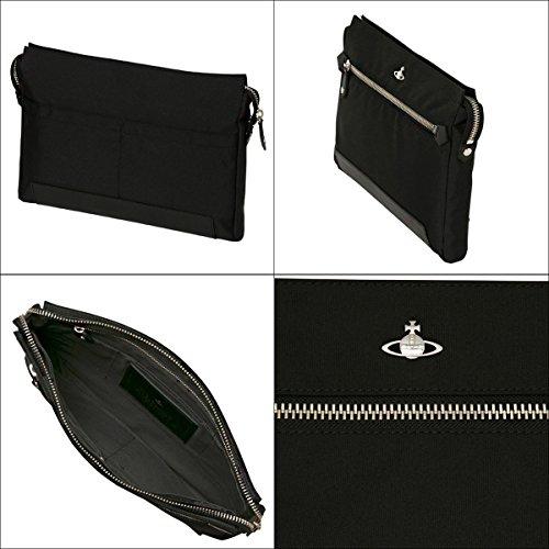 Vivienne Westwood ヴィヴィアンウエストウッド 正規品 メンズ クラッチバッグ アシュフォード 専用保存袋付 (ブラック)