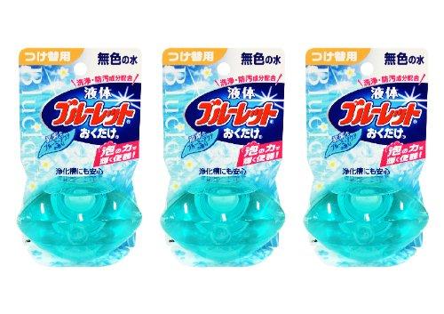 【まとめ買い】液体ブルーレットおくだけ トイレタンク芳香洗浄剤 詰め替え 清潔なブルーミーアクアの香り 70ml×3個