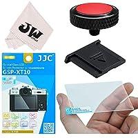 4in1 JJC アクセサリー キッド Fuji Fujifilm X-T30 X-T20 X-T10 対応 ホットシューカバー + 液晶保護フィルム + レリーズボタン + レンズクロス