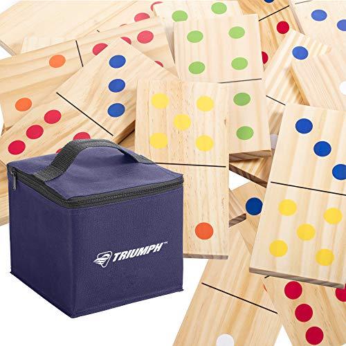 Triumph 28-piece木製Lawn Dominoセット