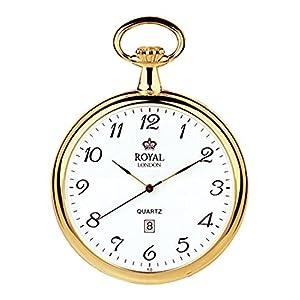 [ロイヤルロンドン]ROYAL LONDON 懐中時計 ポケットウォッチ オープンフェイス クォーツ デイト 90015-02 【正規輸入品】
