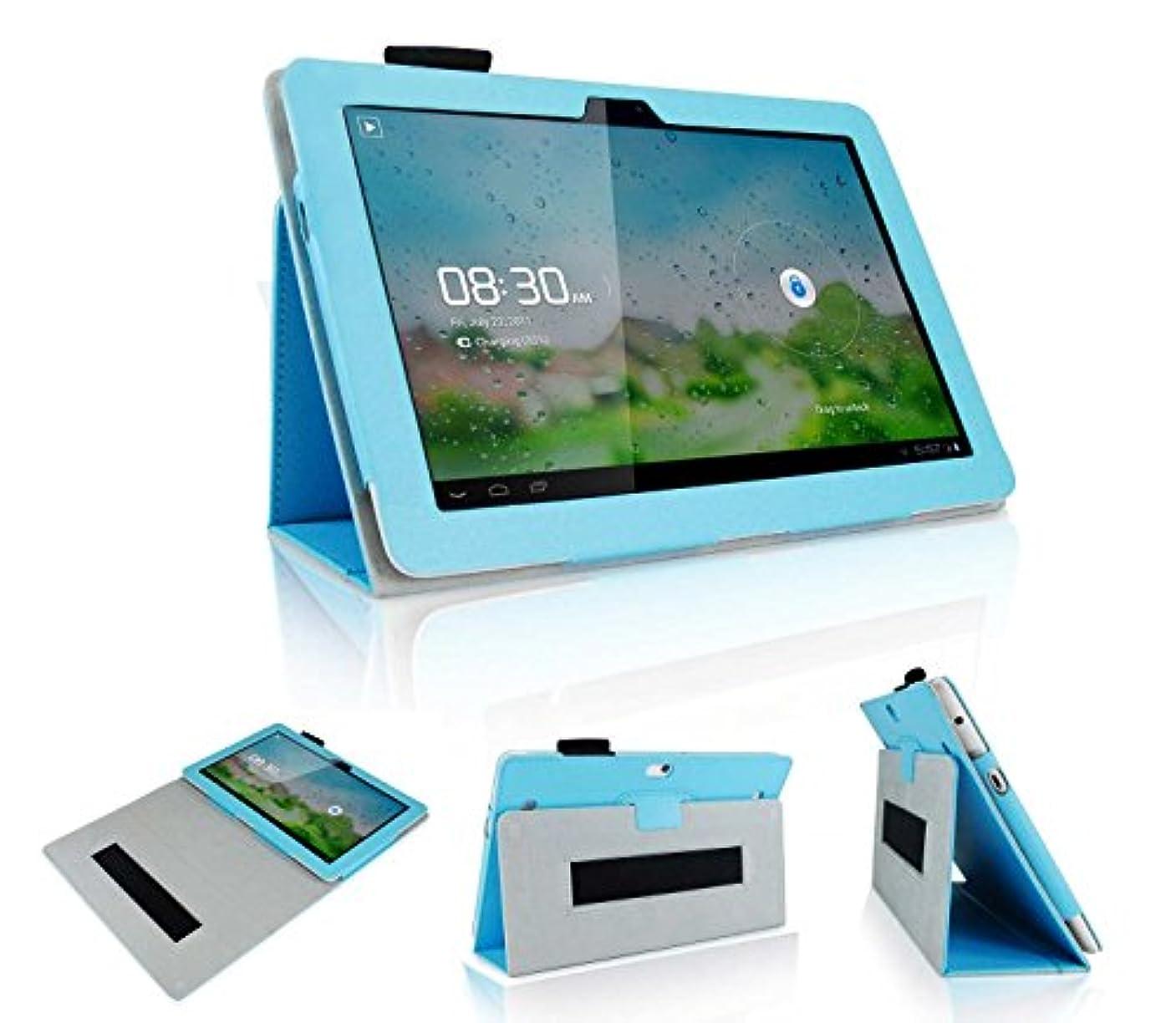 境界だらしないはいwisers Huawei MediaPad 10 Link+ 402HW タブレット 専用 ケース カバー スカイブルー