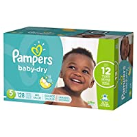 Pampers Size 5 Baby Dry Diaper, 128 count per pack -- 1 each. by Pampers