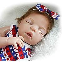 Sleeping Girl Reborn新生児赤ちゃん人形フルボディシリコン22インチビニールLifelike Kids Toys with Magneticおしゃぶり