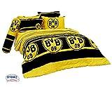 ボルシアドルトムントBVB FCフットボールクラブサッカーチーム公式ライセンスベッドシートセット、ボックスベッドシーツ、枕ケース、Bolsterケースdm002セット Twin 42