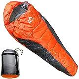 寝袋 シュラフ -5℃ マミー型 登山 冬用 アウトドア 軽量 車中泊 防災用 災害時 避難用 丸洗いOK