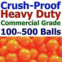 """Myボール3個パック商用グレードジャンボ"""" crush-proof Ball Pit Balls–フタル酸フリー、BPAフリー、PVCフリー、で単一色 オレンジ"""