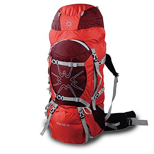 SAMST (70L)アルパインパック バックパック リュックサック 登山リュック  防災リュック ザック   ハイキング 富士登山 アウトドア(B0075-RED)