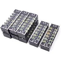 uxcell 端子台 電気端子バリアターミナルブロック バリア ターミナル ブロック TB-1506デュアル行 6P ネジ端子 600V 15A 8本