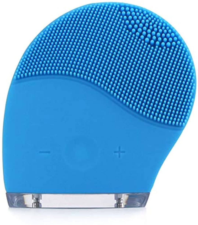 放散するセンター重荷洗顔ブラシ、ブラシ防水アンチエイジングスキンクレンザーフェイシャルポーランドやスクラブのためのディープエクスフォリエーターのメイクツールマッサージャー電気シリコーンフェイス