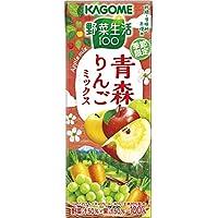 カゴメ 野菜生活100青森りんごミックス 195ml ×24本