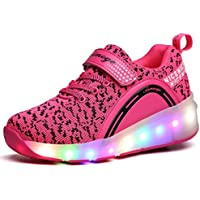 SDSPEED Kids Roller Skate Shoes Single Wheel Shoes Sport Sneaker LED