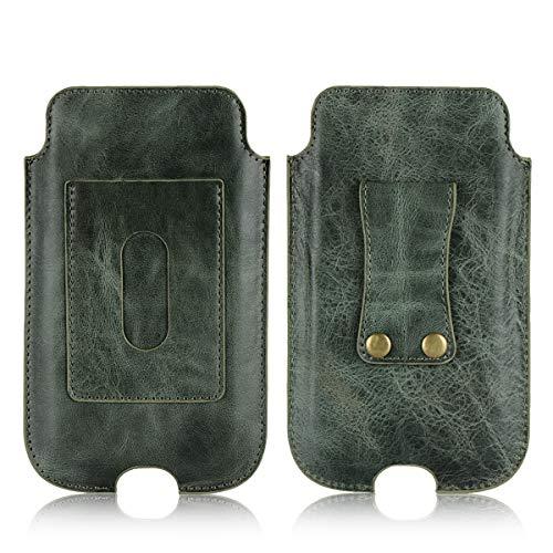 99b7098bad ベルトポーチ ウエストポーチ スマホケース 牛革 携帯ケース 5.1 インチまで 全機種対応 スマホ 汎用
