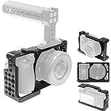 カメラケージ - Sony A6000 A6300 ILCE 6000 ILCE6300 NEX7 用-軽量 1/4ネジ穴 3/8ネジ穴 配置、トップハンドル、三脚プレート、EVFマウントに接続