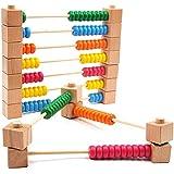 GYBBER&MUMU 分解できる 木製 珠算 そろばん 百玉 そろばん 知育玩具 児童用 3 4 5歳 算盤積み木 自由に変化