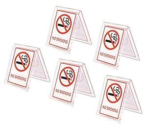 Speed mao 禁煙 No Smoking 卓上 プレート サインプレート ホテル 飲食店 分煙 業務用 5個セット