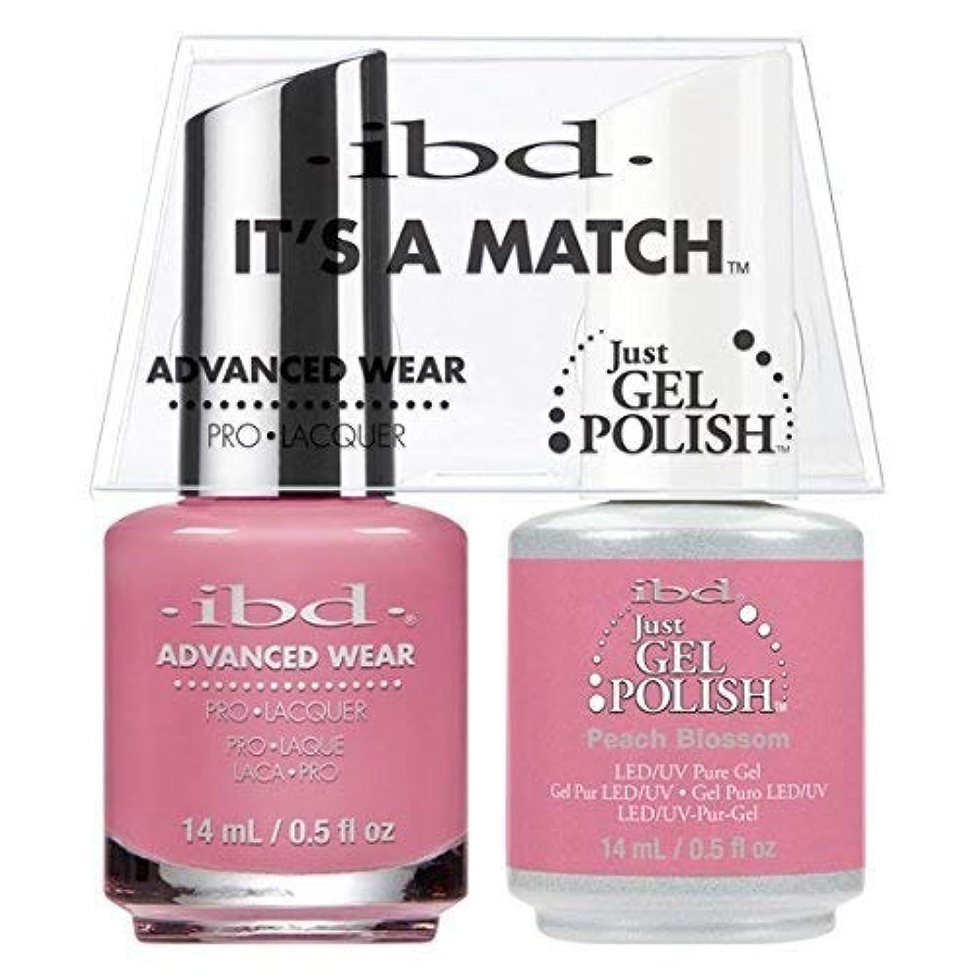 インク甘やかす首ibd - It's A Match -Duo Pack- Peach Blossom - 14 mL / 0.5 oz Each