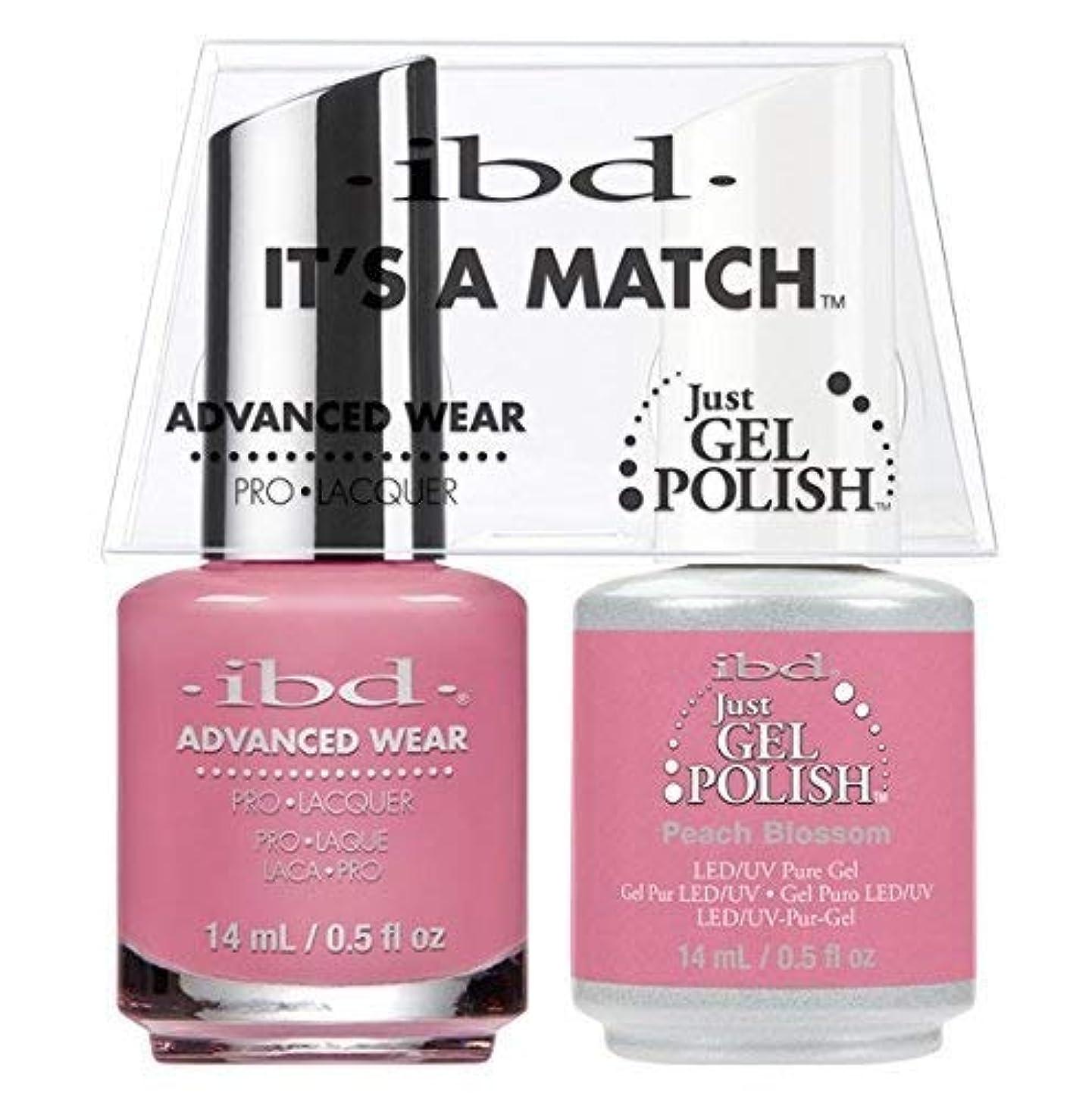 理論頭適用済みibd - It's A Match -Duo Pack- Peach Blossom - 14 mL / 0.5 oz Each