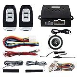 EASYGUARD PKE パッシブキーレスエントリーカーアラームシステム プッシュボタンスタートリモートスタートスターター DC12V EC003-1