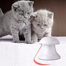 PEDY Automatic Rotating Light Cat Toy Interactive Exercise Toy Training Tool for Cats and Dogs Chase Play Entertainment Cat Toys