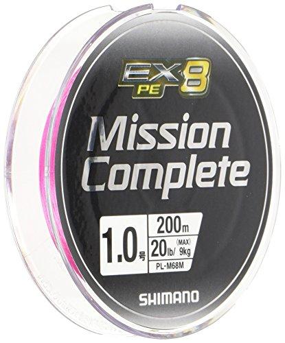 シマノ(SHIMANO) PEライン ミッションコンプリート EX8 200m 1号 20lb トレーサブルピンク PL-M68M