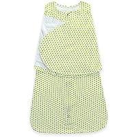 Miracle Baby(ミラクル ベビー)翼寝袋 アームフラップ おくるみ  包み込む安心 ベビー スリープ サック Baby sleep sack コットン100% 1セット 新生児0~6ヶ月のベビー ドット柄 (グリーン ドット)
