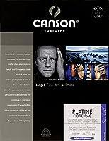 Canson Infinity Platineファイバーラグ310gsm、ナチュラルホワイトスムーズインクジェット用紙、A4、25枚入り