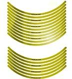 エムディーエフ(MDF) リムストライプ ミラータイプ ミラーゴールド 【MDF 文字有り】 10mm幅 17インチ RIM-10M-GD-17