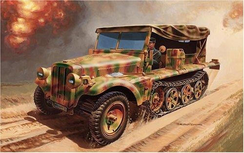 イタレリ 6443 1/35 ドイツ1トンハーフトラック sd.kfz.10 デマークD7