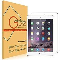 iPad Mini 4 強化ガラスフィルム PopSky 極薄 0.3mm 気泡ゼロ 飛散防止 硬度9H ラウンドエッジ加工 iPad Mini4 液晶保護フィルム フルスクリーン耐指紋 撥油性 高透過率 (iPad Mini4, 強化ガラスフィルム)