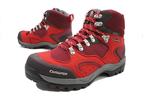 (キャラバン)caravan C1 02S 0010106 トレッキングシューズ ユニセックス 24.5cm 220(RED/レッド)