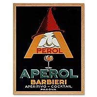 Commercial Advert Aperol Aperitif Alcohol Italy Art Print Framed Poster Wall Decor 12X16 Inch 商業の広告アルコールイタリアポスター壁デコ
