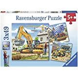 Ravensburger Construction Vehicle 3x49pc Puzzle,Children's Puzzles