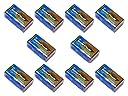 【10個セット】9Vアルカリ乾電池【006P/6F22】9ボルト角型アルカリ電池/ラジオ/防災/バッテリー【水銀0使用】