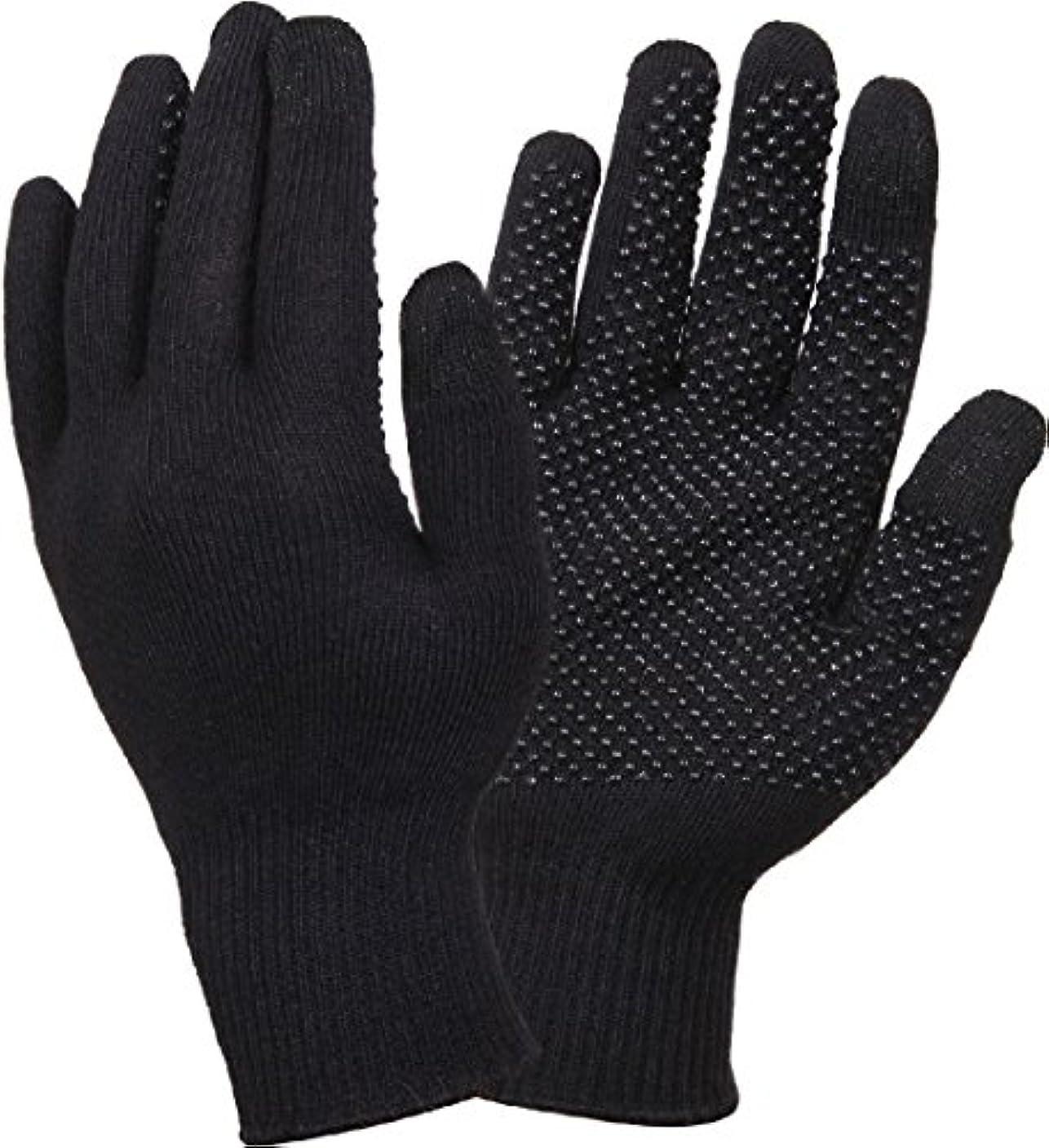離れて落胆させるスリンクブラックCold Weatherタッチ画面手袋with Gripperドット