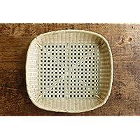 【かごや】格子模様の竹かご(A-7999) 食器置き?野菜干しや雑貨が素敵に片付きます。