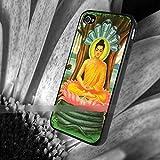 iPhone6 6S仏陀 ブッダ 蓮の花 アートケース保護フィルム付 仏教 佛教 【ノーブランド品】