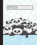 COMPOSITION NOTEBOOK: Funny Kawaii Panda Bears Notebook and Journal with Wide Lined Ruled Paper Pages for Girls and Boys, Perfect for Writing Notes and Exercise