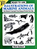 Ready-to-Use Illustrations of Marine Animals: 96 Different Copyright-Free Designs Printed One Side