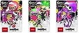 スプラトゥーンシリーズ amiibo3種セット(ガール【ネオンピンク】、ボーイ【ネオングリーン】、イカ【ネオンパープル】)