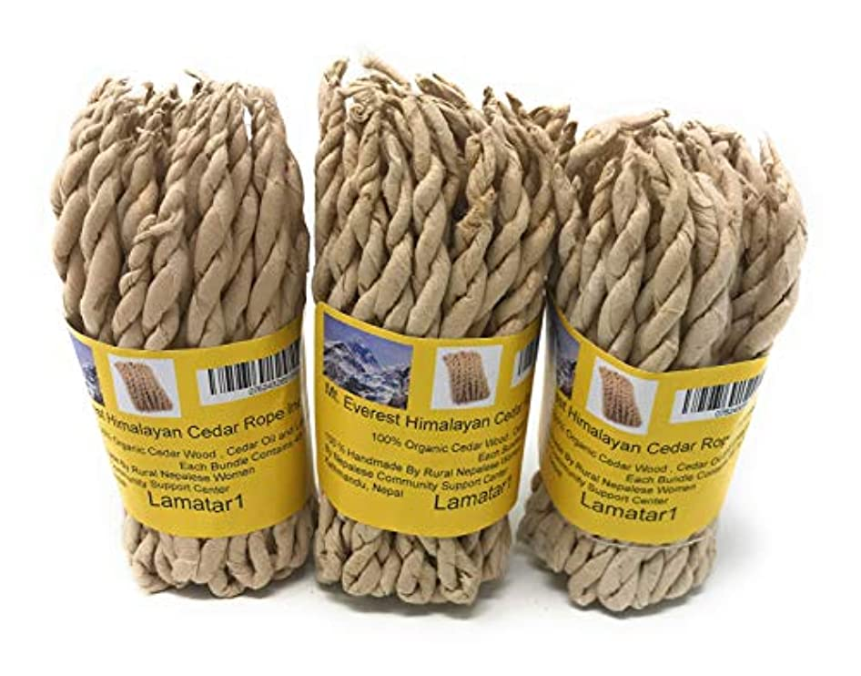行商スーツ騒々しいMT。Everest Himalyan Cedar Rope Incenseロールの3 x 45ロープ= 135ロープfounded by Buddhist Monk Dr。Umesh Lama 1981年に