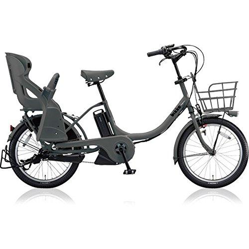 ブリヂストン(BRIDGESTONE) ビッケモブ(bikke MOB) e BM0C38 E.XBKダークグレー 子供乗せ自転車