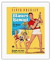 ブルーハワイでエルビス・プレスリー - ビンテージなフィルム映画のポスター によって作成された ロルフ・ゲッツェ c.1961 - キャンバスアート - 41cm x 51cm キャンバスアート(ロール)