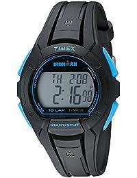 (Black/Blue) - Timex Men's Ironman Essential 10 Full-Size Watch