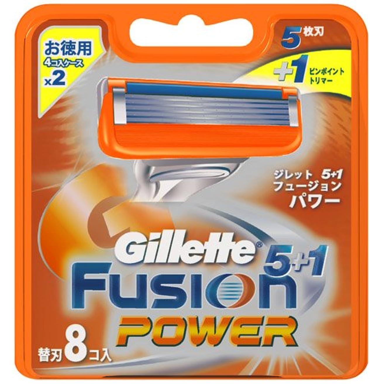 機知に富んだ信条排他的ジレット フュージョン5+1パワー 専用替刃 8B