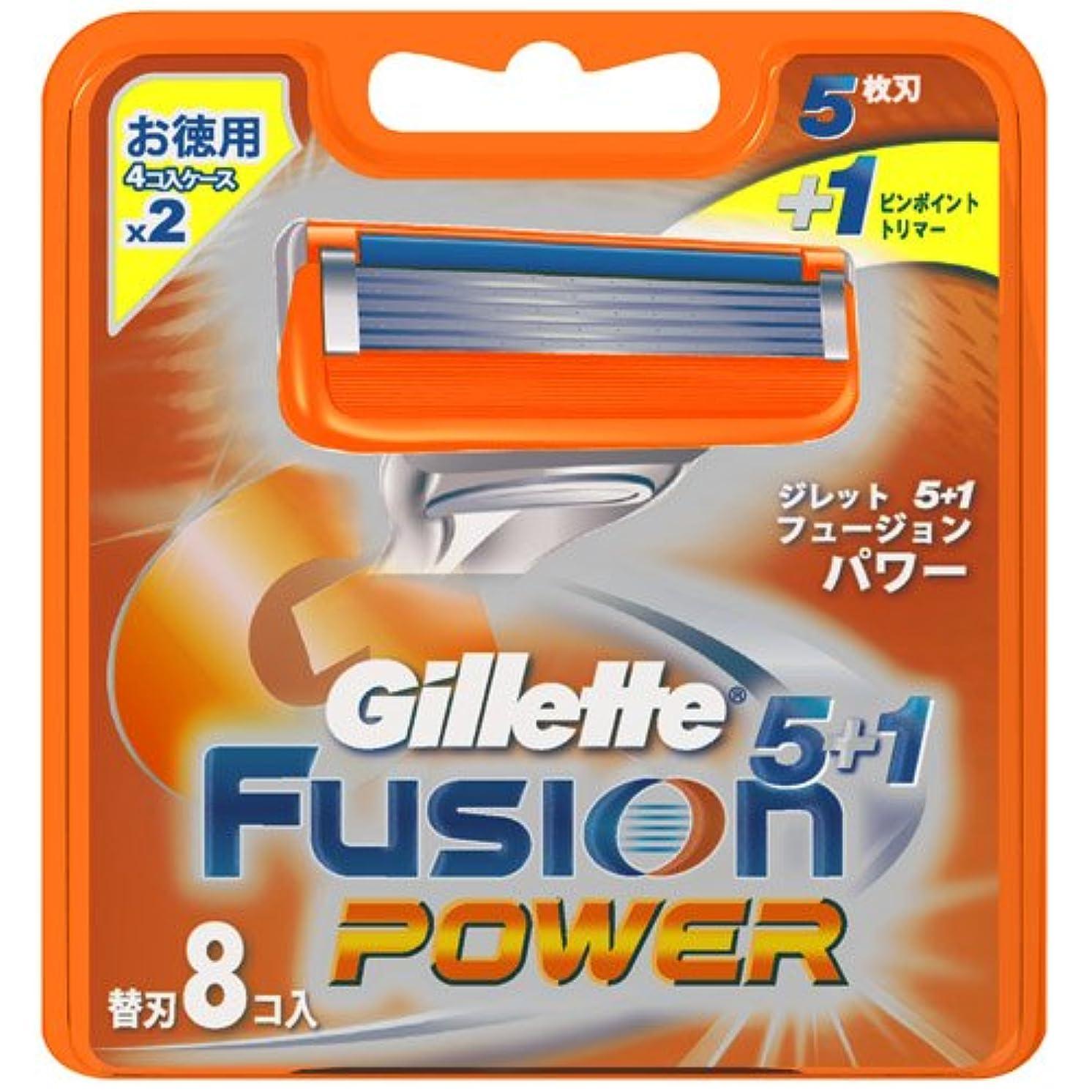 フリル朝重要性ジレット フュージョン5+1パワー 専用替刃 8B