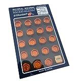 【RAYS(レイズ)】 ジュラルミンロック&ナットセット L42 ストレートタイプ M12×1.5 オレンジアルマイト 74020001005OR
