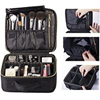 ROWNYEON Portable Makeup Bag EVA Professional Makeup Artist Bag Makeup Train Case Makeup Organizer Bag