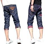 (アルファーフープ) α-HOOP メンズ カジュアル ストリート ファッション デニム ジーパン 7 分 丈 ハーフ パンツ S ~ XXL 大きい サイズ も DME2